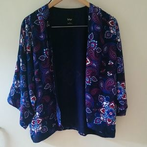 Sportsgirl, boho,paisley print open jacket 10